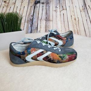 Earth Pastiche Baltic Blue Lace Up Shoes